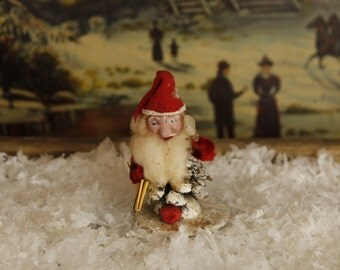 Antique West German Santa, Vintage Christmas , Pinecone Santa, Holiday Decor, Christmas Ornament, Vintage Christmas, Home & Living, Decor