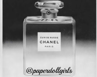 Vintage Fashion Magazine Advertisement L Officiel April 1956 Magazine Ad Chanel Cuir De Russie Perfume Paris Parfum