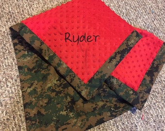 Custom Military Camo Baby blankets with MINKY!