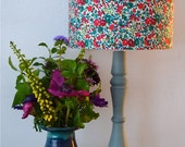 Floral Lampshade - Liberty of London - flowers - 'Emma and Georgina' - living room - bedroom - home decor - boho - country cottage - 20cm