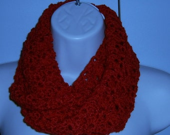 Small crochet infinity cowl neck scarf ( ref 354124)