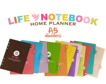 Life Notebook Planner Dividers: A5 Size