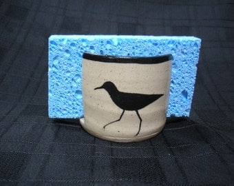 Kitchen Sponge Holder with Shorebird