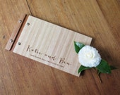 Wedding Guestbook. Romantic.  Engagement Gift. Anniversary Gift. Wedding Guest Book. Wood