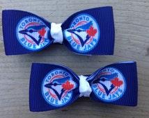 Toronto Blue Jays Hair Bows - No Slip Grips