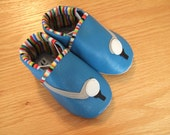 blue baby golf shoes 6-12 month/ size 4 leather baby shoes
