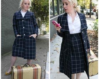 SALE Vintage 60s Geoffrey Beene Suit: 2 Piece Coat Skirt