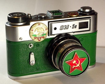 Green USSR FED-5 camera rare Russian LEICA in box  -=Accurate shooter=-