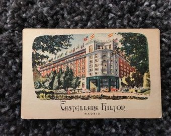 Vintage Postcard - Castellana Hilton, Madrid Spain