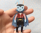 Dress Up Bunny Buddy Brooch Little Vampire Bunny