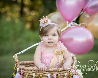 Gold Pink 1st Birthday Outfit, Baby Romper, Pink Romper, Baby Girl Romper, Cake Smash Romper, Baby Girl Party, Baby Photo Prop