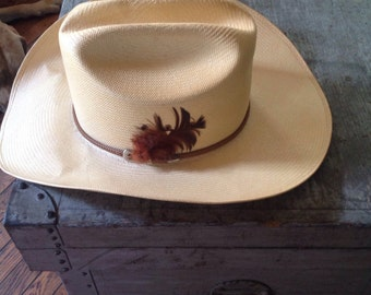 Vintage Larry Mahan's Milano Western Cowboy Hat 7 1/2