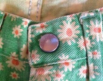 Vintage 1960's Wrangler Flower Jeans Hippy Groovy Sz 11 /12 Misses