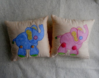 Pink Elephant Pillow Baby Pillow Blue Elephant Pillow Baby Shower Gifts New Baby Pillow Pillows for Nursery Animal Pillows Pastel Pillows