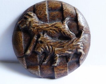 1930s Burwood Button Scottie Dogs