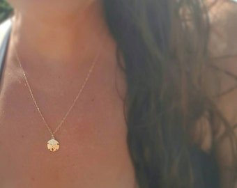 Beach Necklace 14 karat gold filled Sand Dollar