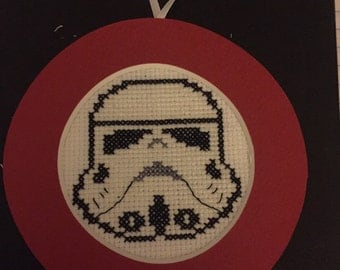 Storm Trooper Cross Stitch Ornament