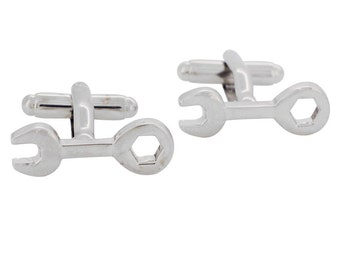Wrench Cufflinks Silver Cuff-links 1200417