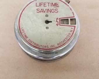 Vintage Metal Advertisement Bank