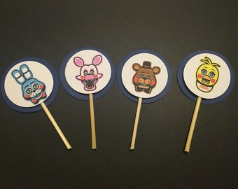 24 FNAF Five Nights at Freddy's Cupcake Toppers Picks