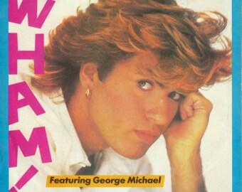 1984 WHAM! George Michael 45 RPM RECORD, Careless Whisper / Careless Whisper (Instrumental)