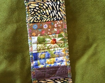 Unique Quilted Bookmark
