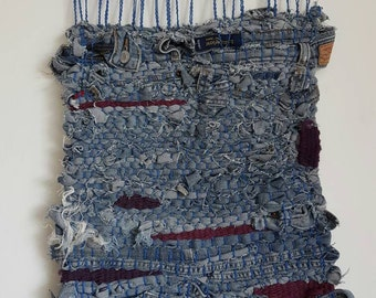 Old Levi's han woven tapestry