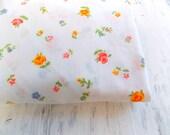 Vintage Twin Fitted Sheet / Spring Floral / Vintage Bedding