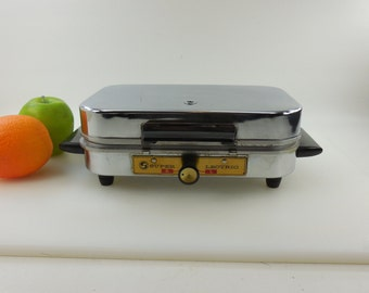 Super Lectric Superior - Electric Waffle Baker Maker Iron & Griddle Plates - Chrome USA