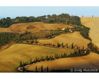 """Fine Art Color Landscape Photography of Tuscany - """"Winding Lane in Tuscany"""""""
