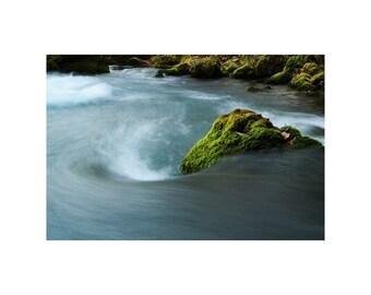 "Fine Art Color Nature Photography of Big Spring in Missouri Ozarks - ""Big Spring Swirl"""