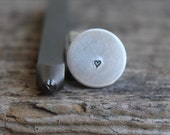 Jenna Sue Heart-1.5mm-Steel Stamp-Can be used on Stainless-Metal Design Stamps- Metal Supply Chick-DJU86