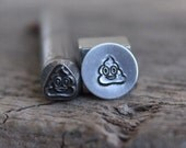 "Emoji Metal Design Stamp-""Poop Emoji"" 3/8 inch-8mm (approx) image-Metal or Leather Stamping Tool-Stamp Metal with New Design Metal Supply"