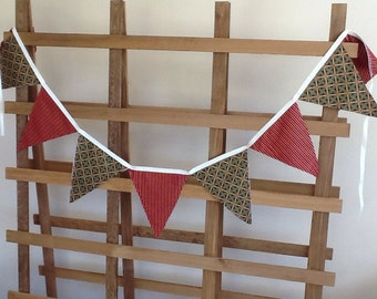 Pennant Cotton Fabric Banner