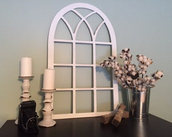 Vintage Inspired 21x35 Vertical Arch Window Frame