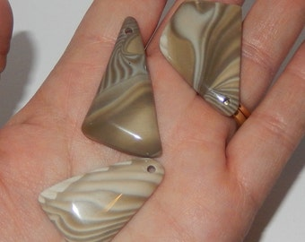 Freeform Polished Drilled Flint