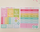 2 sheets - Happy planner weekly functional - Matte paper planner stickers - perfect for all planners, Happy Planner,