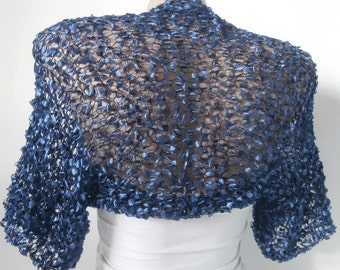Blue Bolero Shrug-Blue Bolero-Blue Shrug-Blue Wedding Bolero-Blue Wedding Bolero-Blue Bridal Shrug-Bridesmaid Bolero-Bridesmaid Shrug