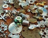 Charm and Bead Mix, 50 Charms, Mixed, Silver, Gold and Bronze Tone, UK Seller random mix, bargain price while stocks last