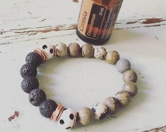 Essential oil, lava bead bracelets
