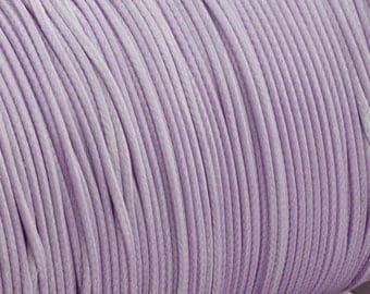 Waxed polyester cord - lilac cord 1.2mm - 10m - WPC29