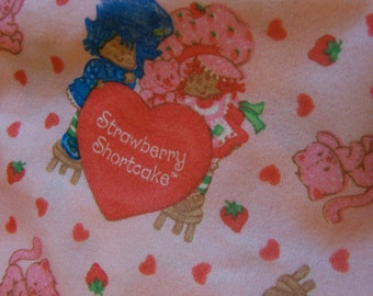 vintage strawberry shortcake fabric scrap