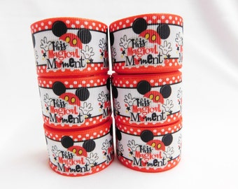 """1"""" This Magical Moment  Ribbon For Hair Bows, Bows, Headbands, Flowers, Bow Center - 5 yards"""
