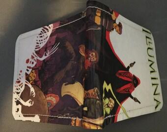 Illuminati  Unique handmade mens comic wallet using recycled comic book materials From TheFanFavorites.com