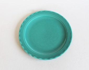 Vintage 1940s/1950s Teal Coronado Pottery Ceramic Salad Plate