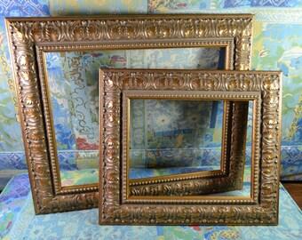 Custom Order for Cochran Antique Ornate Gold Picture Frame * Solid Wood Frame