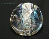 Handmade Lampwork Focal bead - 'Big & Blue' - Creeky Beads SRA
