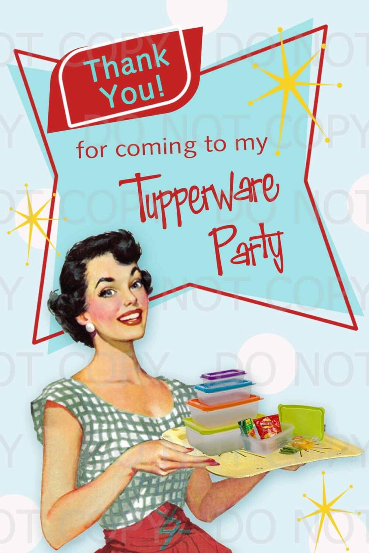 Housewife invitation – Tupperware Party Invitation