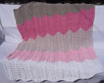 Handknitted Cotton Baby Blanket
