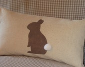 Cotton Tail Bunny Pillow Cover